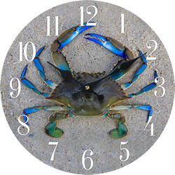 Crab Wood Wall Clock Home Decor Marine Coastal Beach 13X 13 New