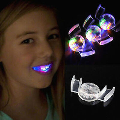 Halloween Light (Flash LED Mouth Braces Light Up Piece Glow Teeth Halloween Party Tricky Toy)