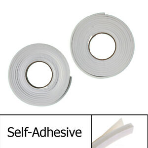 New 2 x Draught Excluder Tape Seal Doors Windows Foam Weather Strip Insulation