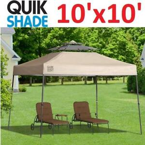 NEW* QUIK SHADE INSTANT CANOPY 157414 189407952 SX100 SUMMIT VENTED TAUPE 10'x10'