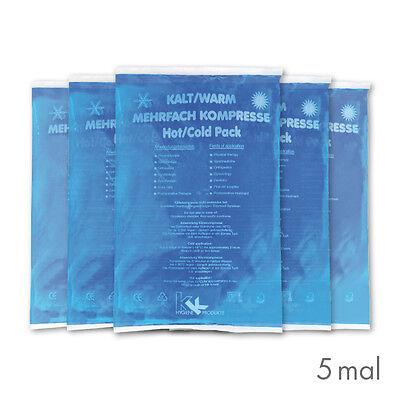 5x Warm-Kalt Kompressen 16 x 26 cm Kühlkissen Kühlkompresse Eispack Gelkompresse