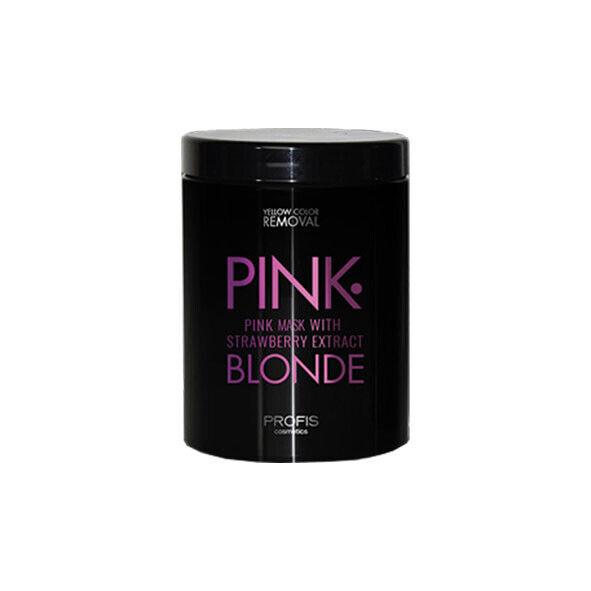 Rosa Haarmaske Farbauffrischer Haarkur Blond Spülung Pink Farbpigment Anti Gelb