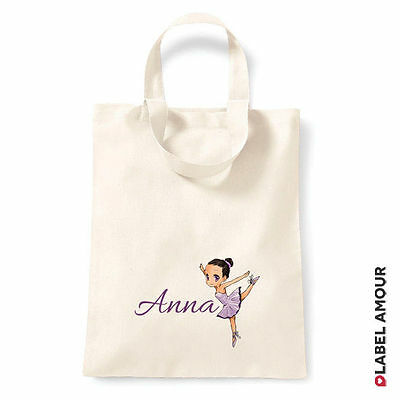 PERSONALISED Name Favour Party Gift Loot Canvas Tote Bag | Ballet Girl
