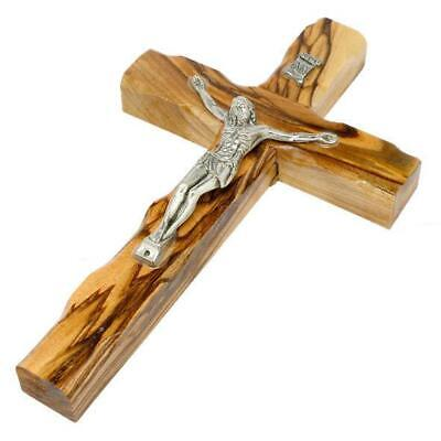 6 inch Olive Wood Cross, Hanging Wall Jesus Crucifix from Jerusalem Holy Land