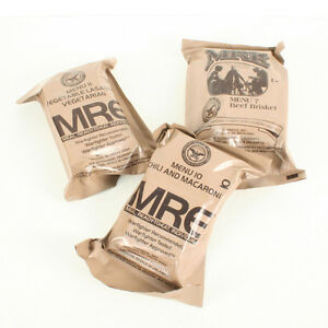 US Army MRE Ration Packs x 3. Pack of 3 Meals Ready To Eat