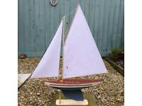 Gaff Pond Yacht Vintage Model Sailing Boat
