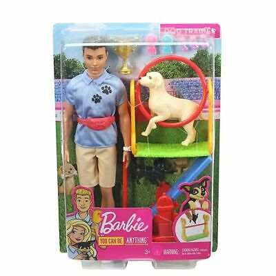 Ken Dog Trainer Playset with Two Dogs. Brand New Boxed Doll. NRFB Barbie Mattel