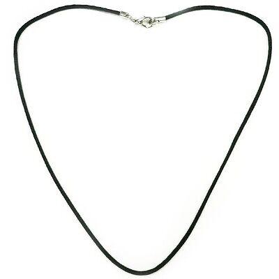 collier cordon noir coton huilé brillant longueur 35 à 80 cm au choix