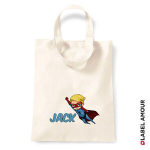 PERSONALISED-Name-Favour-Party-Gift-Canvas-Tote-Bag-Hero-Boy