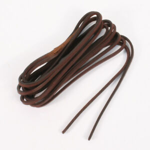 County Dark Brown Leather 3.5mm Square Shoe Boot Laces Thong Extra Strong  120cm dcfca2382e7d