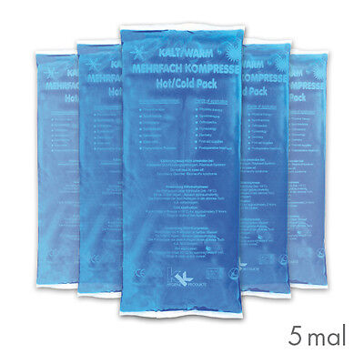 5x KK Kalt Warm Kompressen 12x29 cm Kühlkompresse Kühlkissen Eispack Gelkissen