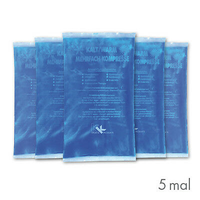 5x KK Warm-Kalt Kompressen 16x9 cm Kühlkissen Kühlkompresse Eispack Gelkompresse