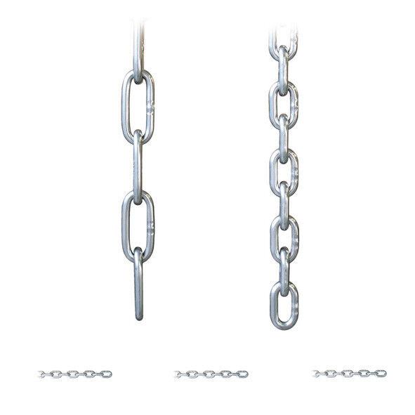1 m Rundstahlkette Edelstahlkette Edelstahl lang / kurzgliedrig Kette Stahlkette