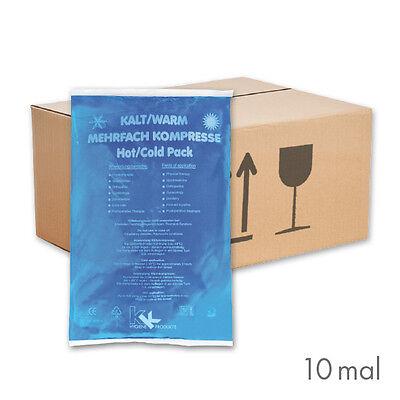 10x Warm-Kalt Kompressen 16 x 26 cm Kühlkissen Kühlkompresse Eis Gelkompresse