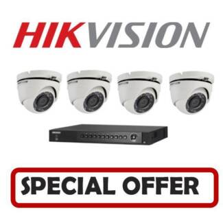HIKVISION 4ch 2MP CCTV SECURITY CAMERA SYSTEM INSTALLED
