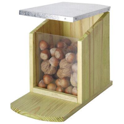 Esschert Eichhörnchen-Futterhaus Futterstation Futterspender Futter Automat Holz