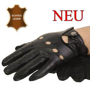 Herren-Lederhandschuhe AUTOHANDSCHUHE Handschuhe echtes Leder Nappaleder