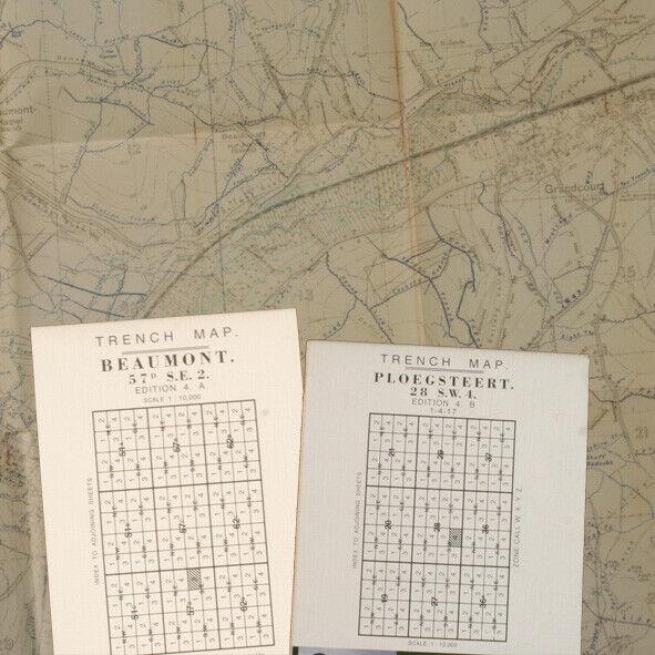 Reprint British WW1 Pack 04 British WW1 Trench Maps Beaumont and Ploegsteert BOK