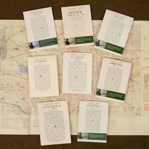 British WW1 The Battle of Ypres Trench Map Set. Reprint BOK546