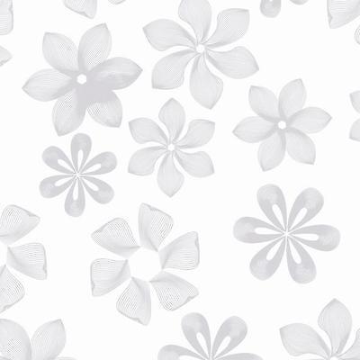 1 Rolle Geschenkpapier Secare Großrolle 50cm breit x 50m WEISS-SILBER #50011