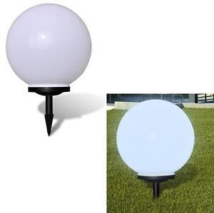 L mpara solar de jard n esfera luz led per metro 65cm bola - Lampara de jardin solar ...