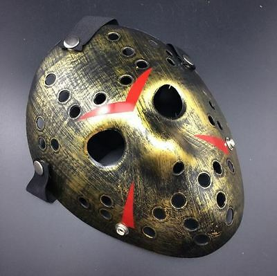 Jason Voorhees Friday the 13th Horror Movie Hockey Mask Halloween Scary Mask - Hockey Mask Scary