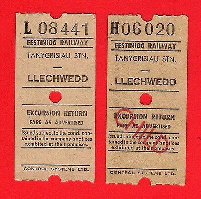 Festiniog Railway Tickets ~ Ultimatic: Tanygrisiau to Llechwedd Excursion Return
