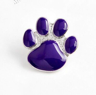 PURPLE DOGS PAW ENAMEL LAPEL BADGE  2019