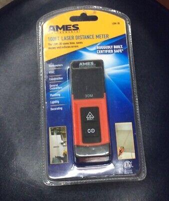 New Ames 100ft. Laser Distance Meter Ldm-30