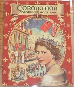 queen elizabeth  coronation coloring book