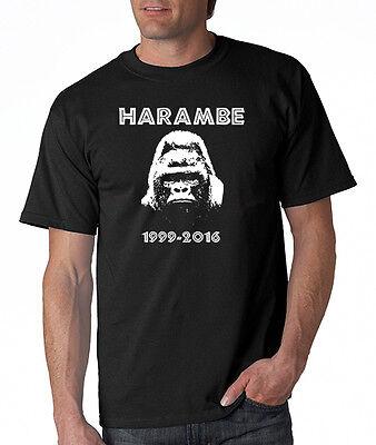 Harambe Gorilla Mens T Shirt Rip Funny Meme Cincinnati Zoo Small 5Xl