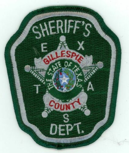 GILLESPIE COUNTY SHERIFF TEXAS TX NICE COLORFUL PATCH POLICE
