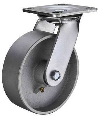 6 Inch Caster Wheel 661 Pounds Swivel Cast Iron Top Plate