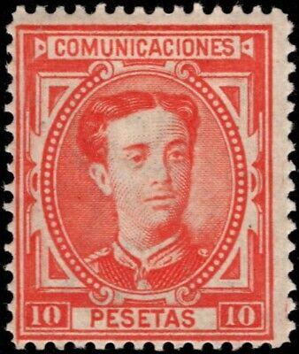 1876.MH.Ed:*182.Alfonso XII.10 pts bermellón