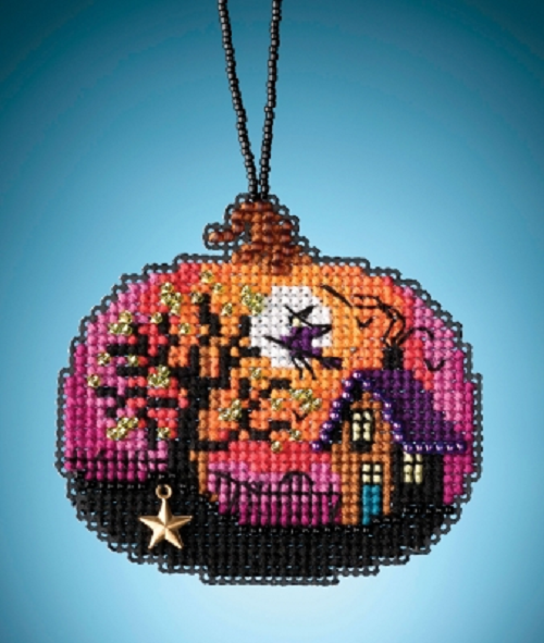MILL HILL Painted Pumpklns ORNAMENTS Beaded Cross Stitch Kit