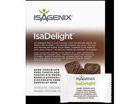 ISAGENIX IsaDelight™ New Dark Chocolate Box 342g (30 packets x 11.4g)