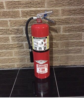 Refurbished 10lb Abc Fire Extinguisher Nice With New Cert Tag Bracket