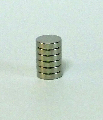 6er Set Rundmagnet Magnet Ø 12 mm x 3 mm dick