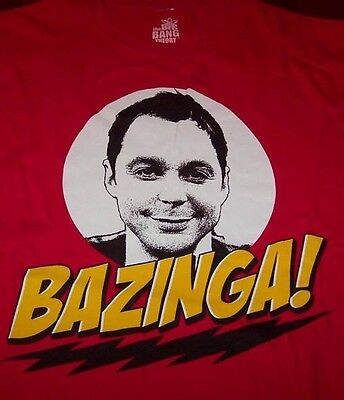 The Big Bang Theory Bazinga T-shirt Medium W/ Tag