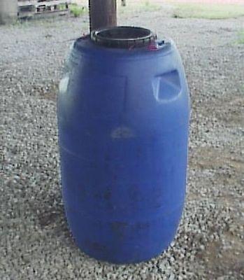 63 Gallon Screw On Lid Blue Plastic ...