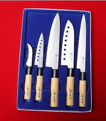 GoldSun 5pcs Knife set Kitchen Cutlery Bone Japanese Chef Home Sashimi Fish Run