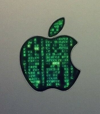 GLOWING MATRIX Apple MacBook Pro Air Sticker Laptop DECAL Logo 11,12,13,15,17in