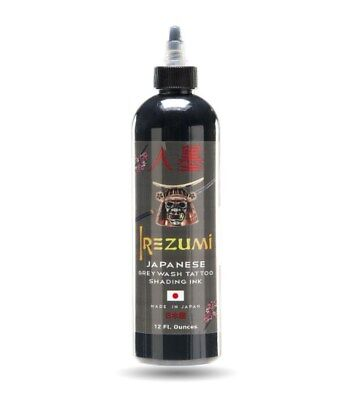 IREZUMI Tattoo Ink Grey Wash Shading Color 12 oz Bottle Original Japanese