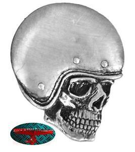 HELMET SKULL BIKER Pin Anstecker Anstecknadel Chopper Motorrad Ride Harley 1%