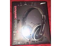 Over Ear Stereo Headphones NEW in box