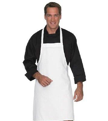 6 New Bright White Kitchen Craft Restaurant Bib Aprons Premium Twll