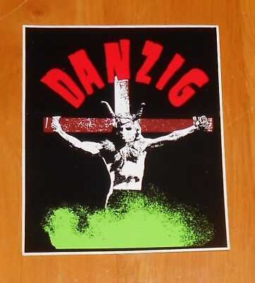 Danzig Sticker Decal Original RARE Misfits 4.5x3.75 Rectangle (cross)