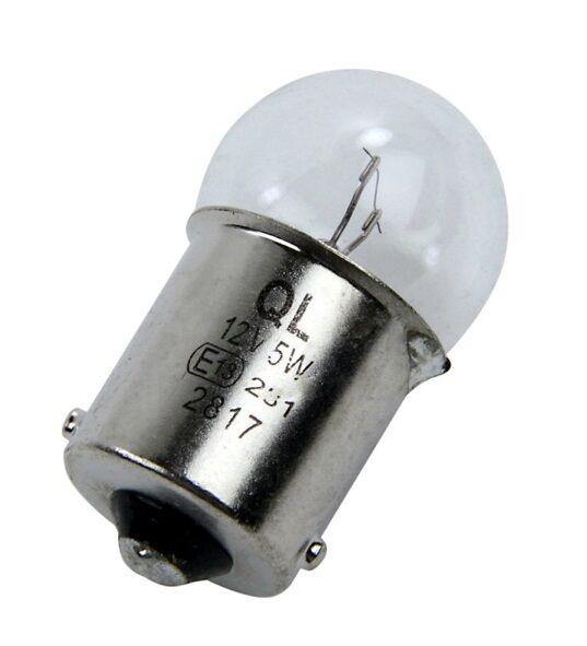 12v Trade 5w Small BA15S R5W 207 Indicator Repeater Bulbs Lights MOT