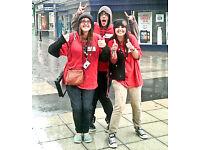 Travel Uk FREE! Charity Street Fundraiser position £280-£336pw +Uncapped Bonus! Immediate Starts!