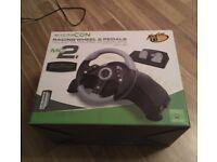 Gaming Steering Wheel & Pedals